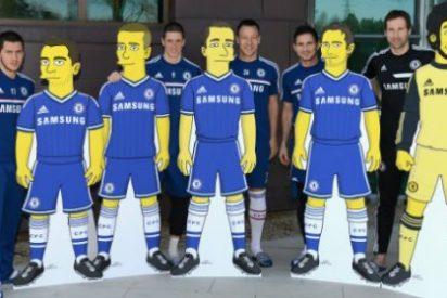 Los jugadores del Chelsea se transforman en Simpsons