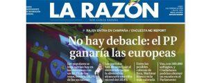 La Razón, enamorada de Rajoy, le da vencedor en las europeas