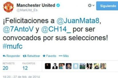 La pifia del Manchester en Twitter