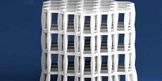 Un material resistente como el acero pero menos denso que el agua