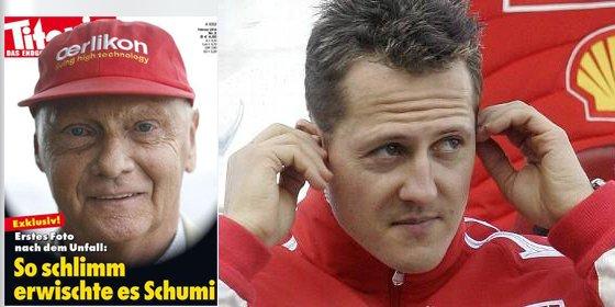 Una publicación se burla de como ha quedado Schumacher