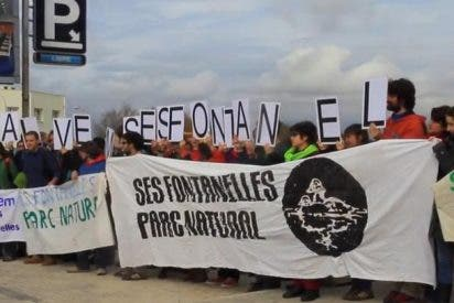 Los ecologistas protestan en Ses Fontanelles para rechazar de plano las obras en la zona