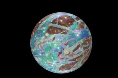 [Vídeo] ¿Desea consultar el primer mapa de Ganímedes, la luna más grande del Sistema Solar?