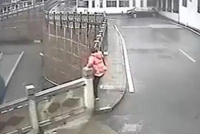 El vídeo de la 'lanzada' mujer que evita que una suicida se tire por un puente