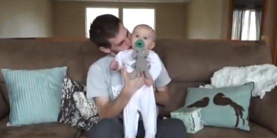 [Vídeo] Un padre ejemplar se despide de su bebé antes de morir por cáncer