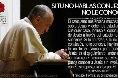 """Francisco: """"El Espíritu Santo no es un sindicalista; trabaja en nosotros siempre"""""""