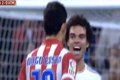 Pepe se mofó en la cara de Diego Costa