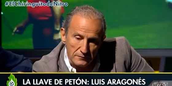 Petón homenajea a Luis Aragonés