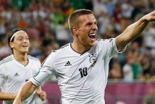 Podolski contento en el Arsenal