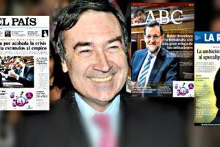 Pedrojota califica de 'fellatio' a Rajoy las portadas de 'El País', 'ABC' y 'La Razón'
