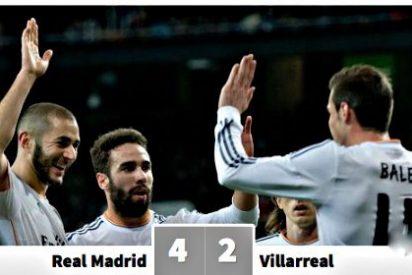 El Real Madrid despacha al Villareal en una tarde de golazos que divirtió al Bernabéu