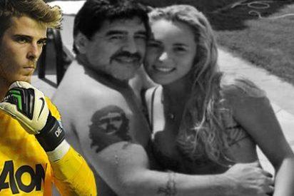 Maradona se pelea con su novia por ligar con David de Gea
