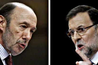 El popular Rajoy ganó al socialista Rubalcaba por 14 puntos en el debate de la Nación