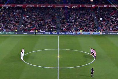 [VÍDEO] Así pitaron los facinerosos de San Mamés durante el minuto de silencio por Luis Aragonés