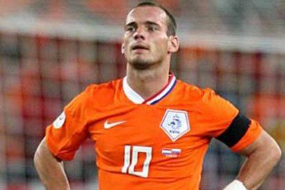 Sneijder reconoce que rechazó fichar por un grande europeo