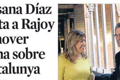 Susana Díaz, la esperanza de paz y poder para La Vanguardia, pide más dinero para Mas
