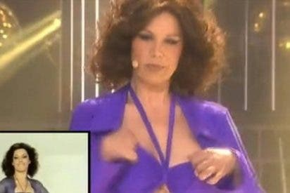 'Tu cara me suena' se pone sexy: Toñi Salazar muestra un pecho durante una actuación