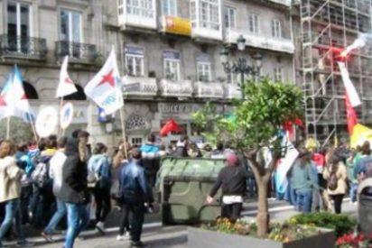 Un joven detenido y cinco policías heridos en Vigo tras la manifestación contra la Lomce