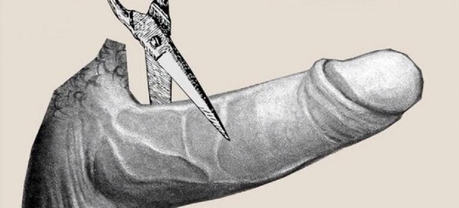 Unas tijeras 'nada machistas' cortan un pene en el cartel de Xuventudes Socialistas contra la ley del aborto