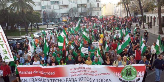 La izquierda recalcitrante recorre Palma en una Marcha por la Dignidad de dudoso paso