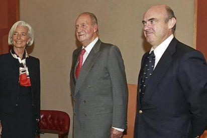 El Rey le echa un 'pulso económico' a la directora del FMI y al presidente del Eurogrupo en Bilbao
