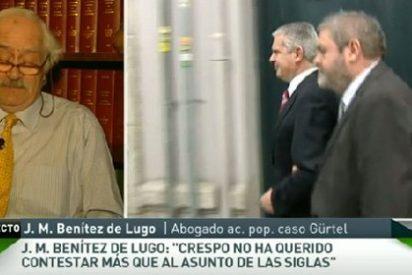 """Benítez de Lugo: """"Crespo ha echado una mano a Bárcenas para que no cuente lo que sabe"""""""
