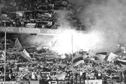 La UEFA prohibió un gigantesco tifo a los Biris