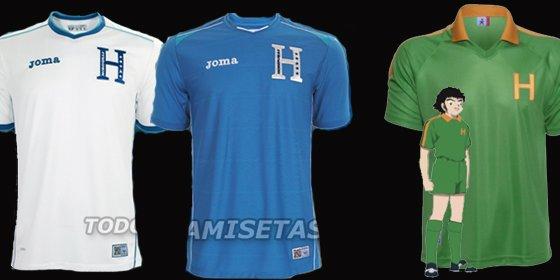 Honduras basa su camiseta en uno de los equipos de 'Oliver y Benji'