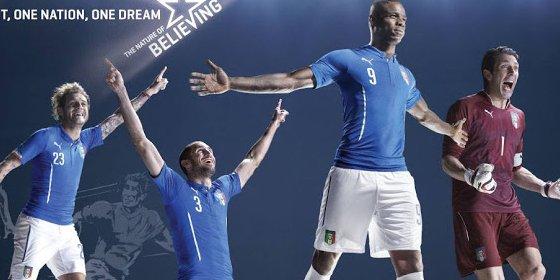 Las camisetas de la Selección Italiana para el Mundial