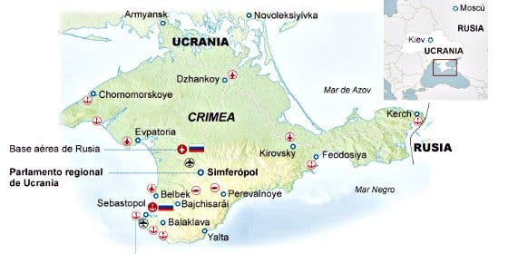 Crimea se abraza a la Rusia de Putin