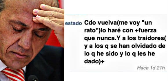 """El preso José María Del Nido manda un letal aviso a los """"traidores"""" a través de Whatsapp"""