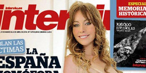 La actriz Cristina Goyanes se desnuda y recita versos eróticos para 'Interviú'