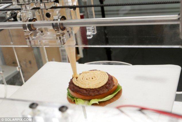 La primera impresora 3D para hamburguesas, pan, chocolate o pasta es española