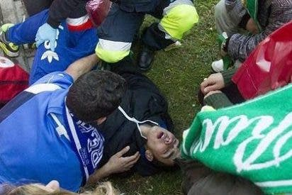 Graves incidentes al término del partido entre el Racing y el Oviedo