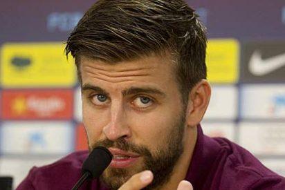 Piqué desmiente haber escupido a los aficionados del Espanyol