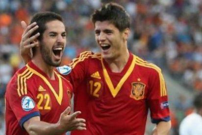 ¡Enfado entre dos jugadores de la sub-21!