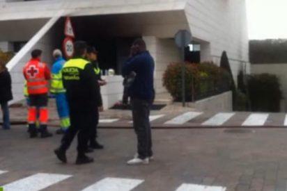 El vídeo del voraz incendio que casi achicharra al delantero del Real Madrid, Jesé, en su chalé