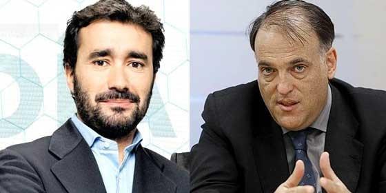 Tebas y Juanma Castaño se enfrentan en Twitter