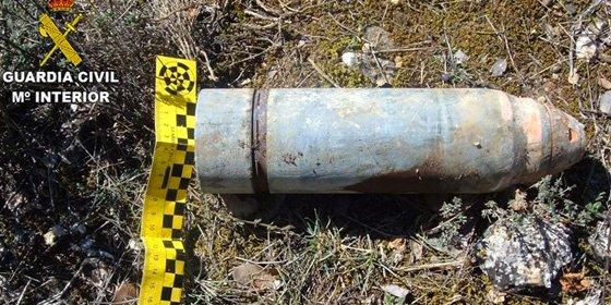 Desactivados cuatro proyectiles de artillería de la Guerra Civil