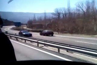 El vídeo del 'kamikaze' de 82 años que sembró el pánico en la autovía de San Sebastián