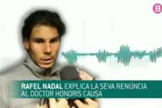 """Rafa Nadal zanja la polémica de la UIB con un 'mate': """"Sólo quiero recibir el doctorado si hay unanimidad"""""""