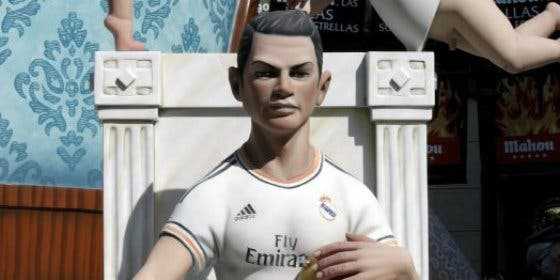 Los valencianos queman a Cristiano Ronaldo