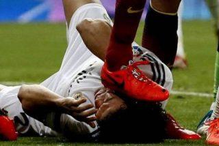 David Sánchez culpa a Diego López del pisotón de Busquets a Pepe