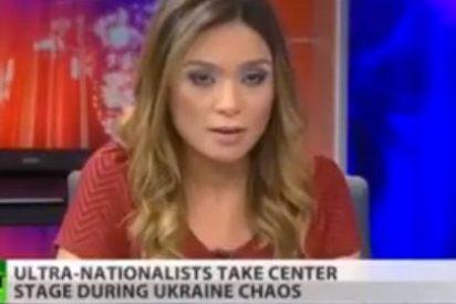 Igualito que en Canal Nou: un presentadora 'deserta' en directo de la televisión oficial rusa