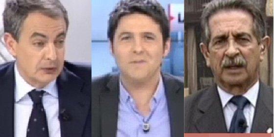Cintora y su amigo Revilla le hacen una encerrona a Zapatero en Cuatro