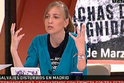 Las piruetas verbales de Tania Sánchez (IU) para no condenar la violencia salvaje del 22-M