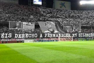Los Biris sacaron el polémico tifo contra el Betis ante el Madrid