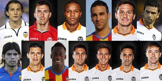 Los 13 transferibles del Valencia