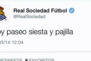 """Hackean el Twitter de la Real: """"Hoy, paseo, siesta y pajilla"""""""
