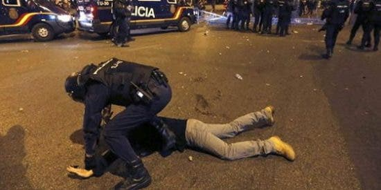 Un único detenido por los ataques a policías en Madrid